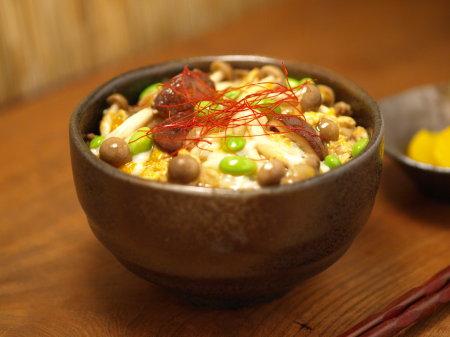 枝豆坦々キノコ丼a01