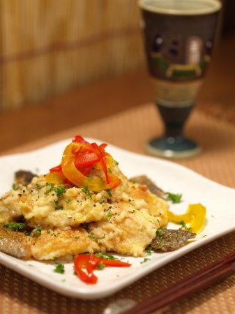 秋鮭の味噌チーズ炒め20