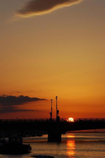幣舞橋 夕陽