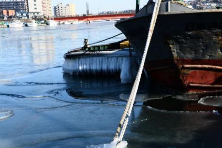 釧路川の氷