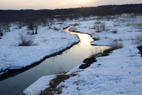 鶴居の夕陽2