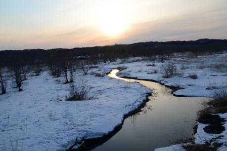 鶴居の夕陽1