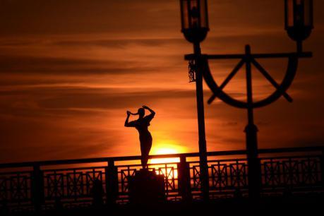 幣舞橋の夕日