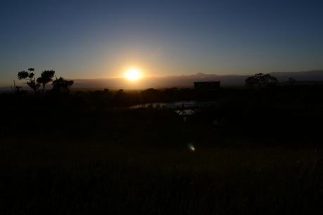 岩保木の夕日