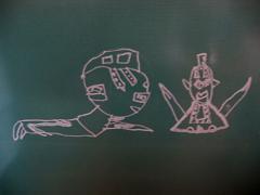 息子の描いたウルトラセブン1