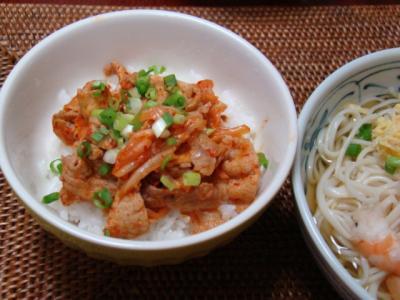 キムチ丼♪