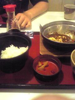 四川の麻婆定食