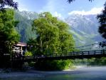 朝もやの河童橋