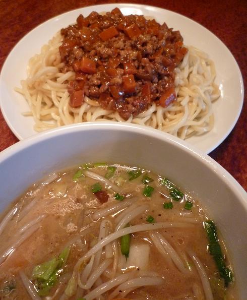 『田村屋』 肉あんつけ麺(アップ)