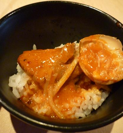 『麺喰屋 澤』 激辛区濃厚極太町味噌番地(ランチサービスライスに、トッピング&汁かけ)