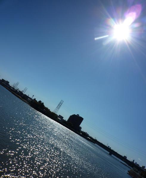 高砂橋から見る江戸川区