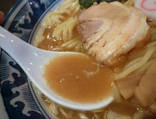 『わた井』 中華そば(並)スープ