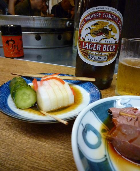 『宇ち多゙』 おしんこお酢とビール等