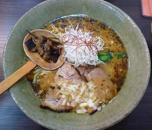 『天雷軒 東日本橋店』 薫MISO深川拉麺(850円)