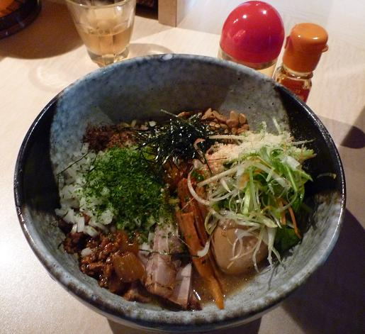 『麺喰屋 澤』 和えそば もんじゃセット(和えそば)