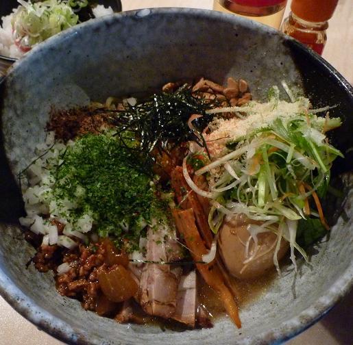 『麺喰屋 澤』 和えそば もんじゃセット(780円)