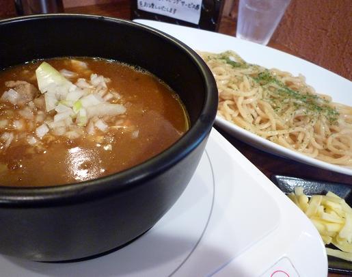 『麺屋 天翔』 スパイシーカリーつけ麺(アップ)