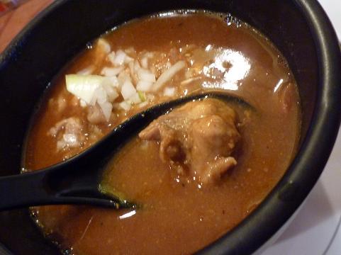 『麺屋 天翔』 スパイシーカリーつけ麺(つけ汁の鶏肉)