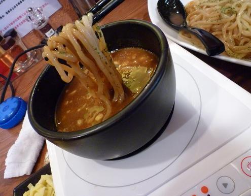 『麺屋 天翔』 スパイシーカリーつけ麺(麺リフト)