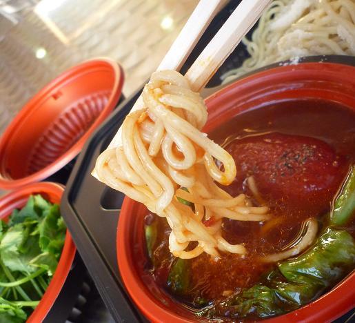 『麺や 七彩』@お台場ラーメンPARK 「真トマトつけ麺」(アップ)