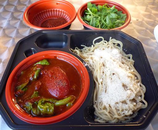 『麺や 七彩』@お台場ラーメンPARK 「真トマトつけ麺+ハイカラ+スパイシー+香草トッピング」