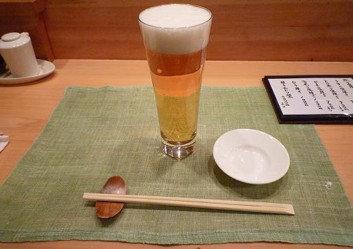 『蔵鮨』2 生ビール