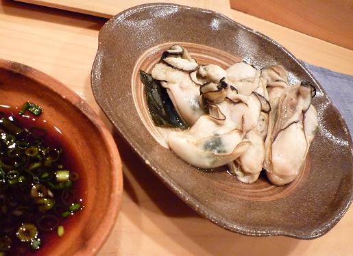 『蔵鮨』6 牡蠣こぶ蒸し