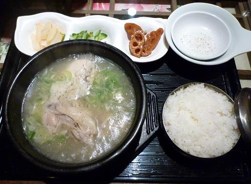『ハヌリ 新宿店』 サンゲタン定食(カクテギ・デザート付、1000円)