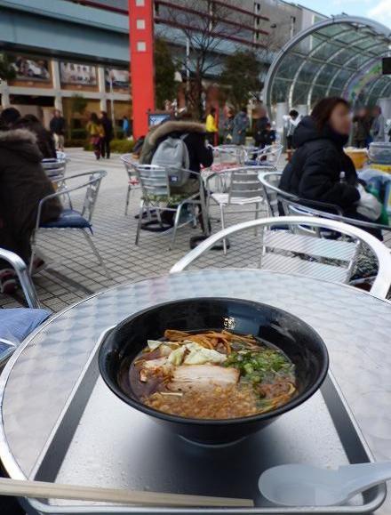 『麺家うえだ』@お台場ラーメンPARK 「焦がし醤油らーめん(アップ)」