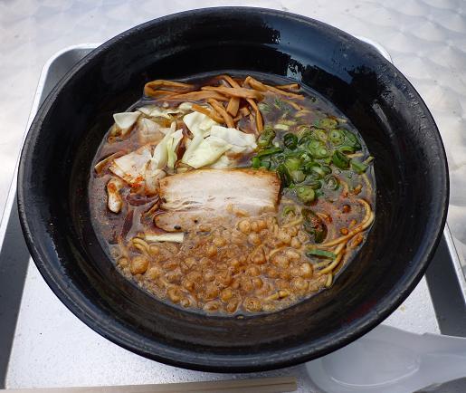 『麺家うえだ・サイロック軍団』@お台場ラーメンPARK 「焦がし醤油らーめん」800円