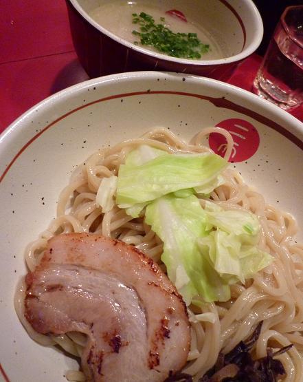 『麺屋武蔵 二天』 濃厚豚骨つけ麺(並・アップ)