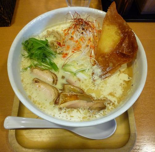 『ら~麺 もぐや』 らーナビ会員限定「もぐやの豆乳生姜めん」850円