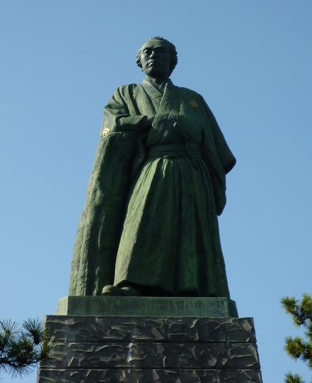 桂浜の龍馬像(20100122)