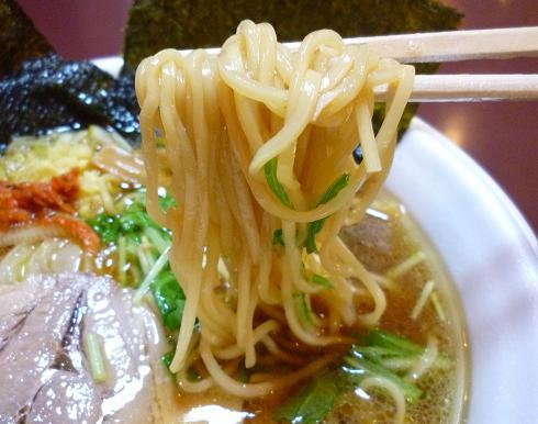 『ガガガ職堂』@ラーメンフェスタ IN NAKAYAMA 「生姜醤油麺」(麺リフト)