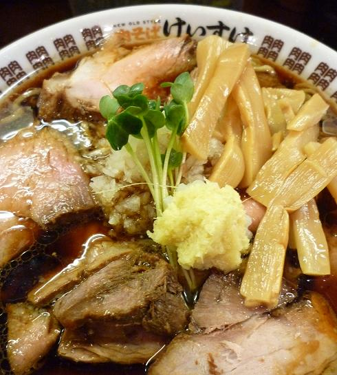 『NEW OLD STYLE 肉そば けいすけ』 肉そば(並)アップ