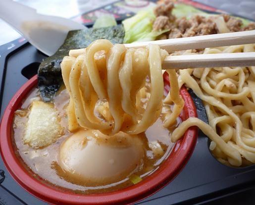『つけめん 玉』@お台場ラーメンPARK 「お台場限定・冬のつけめん」+味玉(麺リフト)