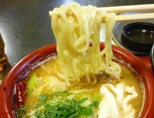 『雁家』 つけ麺(鴨汁) 麺リフト