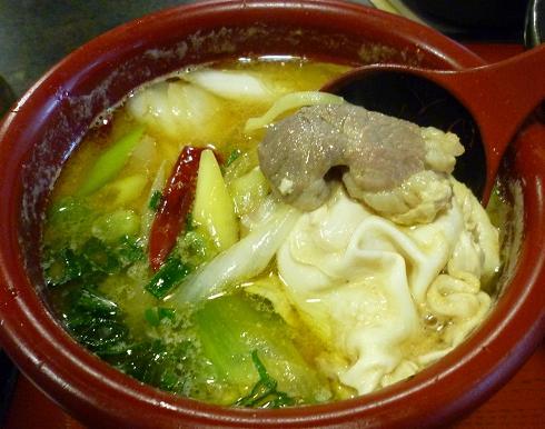 『雁家』 つけ麺(鴨汁) つけ汁アップ