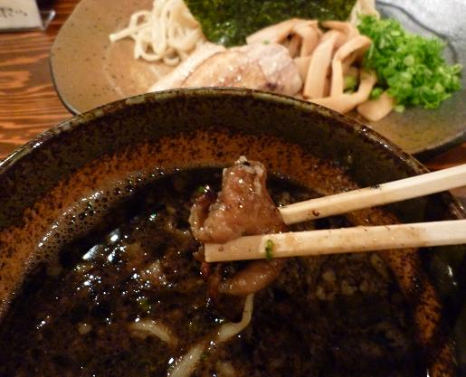 『ラーメン 龍の家 新宿小滝橋通り店』 つけ麺もつ(もつリフト)