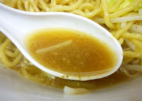 『ラーメン ○菅』 ラーメン(ニンニク少なめ・スープ)