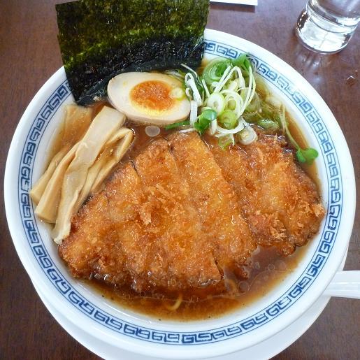 『洋食とんかつ フリッツ』 とんかつラーメン(醤油味)1050円