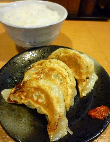 『ら~麺 もぐや』 ランチの餃子・ライスセット(100円)