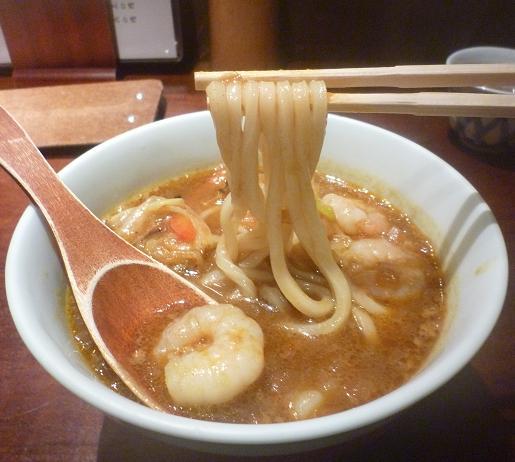 『饂飩くろさわ』 海老カレー南蛮(麺リフト)
