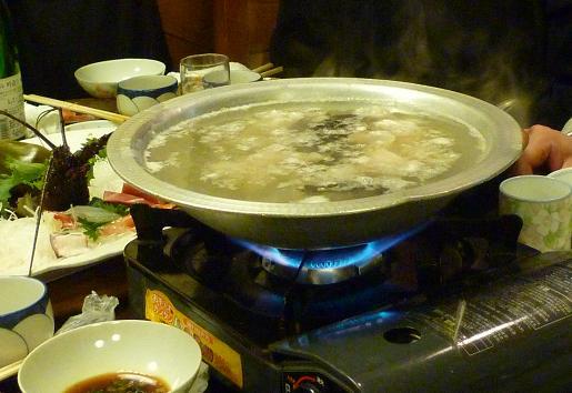 『うまいもん屋』 コースの鮟鱇鍋・ポン酢使用の水炊きver.
