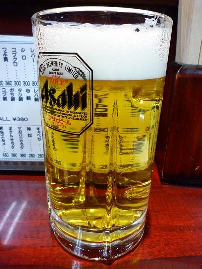 『加賀廣 亀有店』 生ビール(550円)