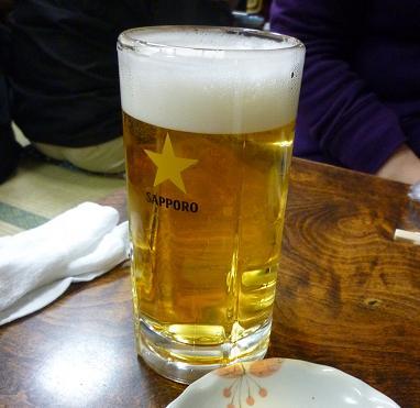 『鳥升』 生ビール(中ジョッキ) 520円