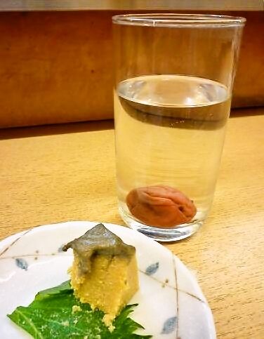 『正宗屋 相合橋』 焼酎お湯割り(梅入り)