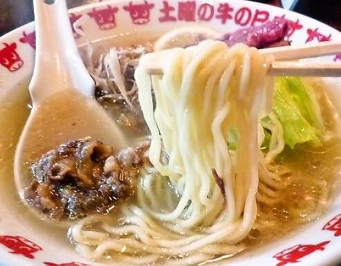 『土曜の牛の日』 牛骨らーめん(麺リフト)