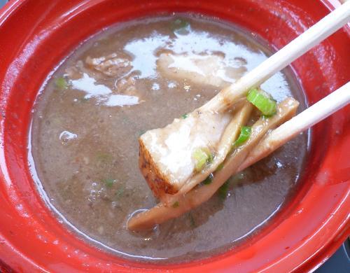 『無鉄砲 無心』@大つけ麺博in六本木ヒルズ 「つけ麺」つけ汁の具