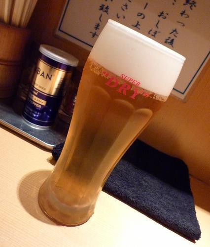 『我武者羅』 生ビール(400円)